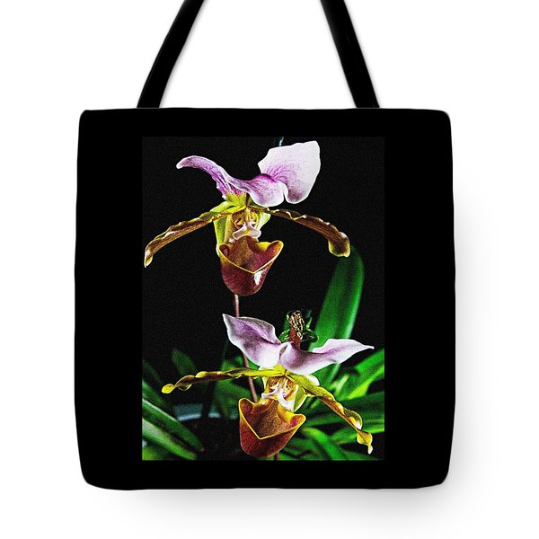 Lady Slipper Orchid Tote Bag by Elf Evans