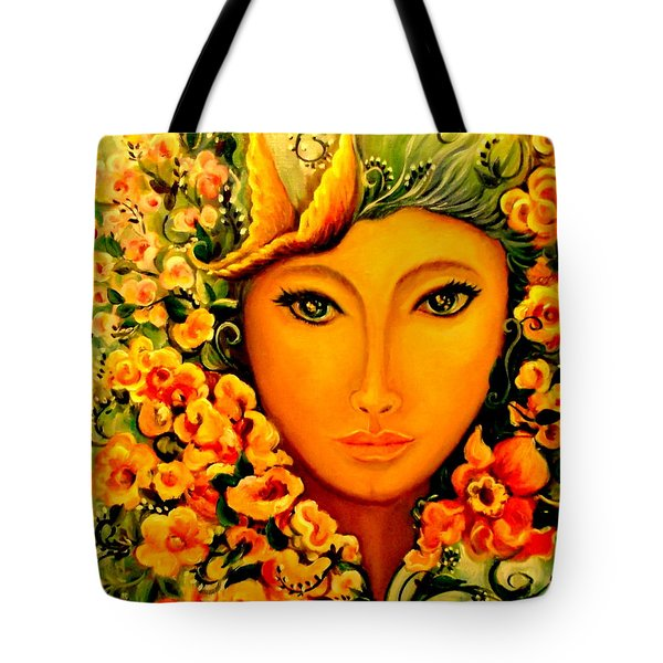 Lady Sring Tote Bag