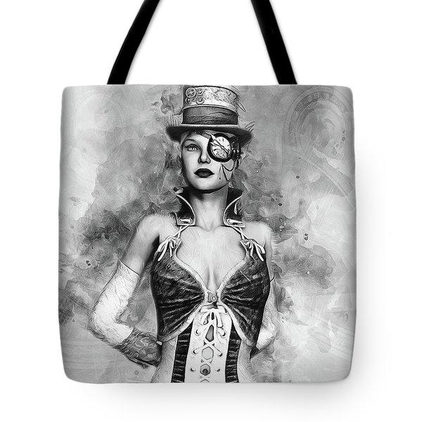 Lady Steampunk Tote Bag
