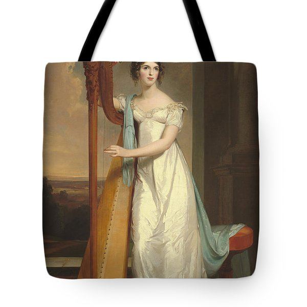 Lady With A Harp Tote Bag
