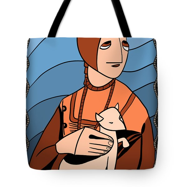 Lady With An Ermine By Piotr Tote Bag