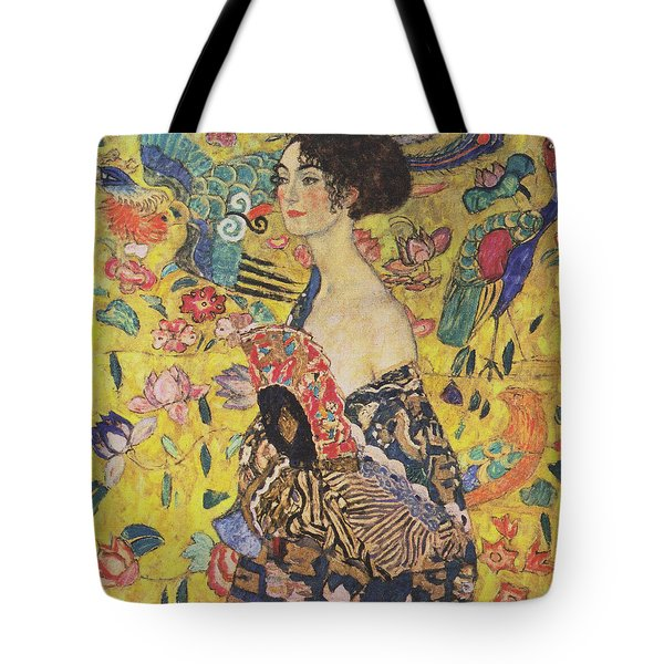 Lady With Fan Tote Bag