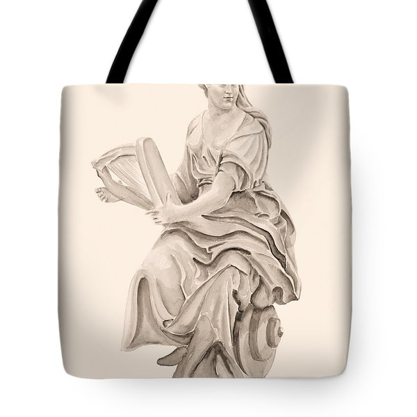 Lady With Harp Tote Bag