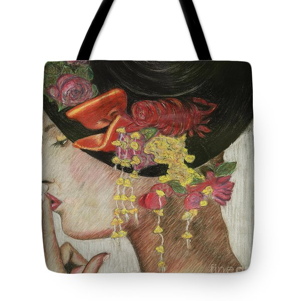 Lady With Hat Tote Bag by Jacqueline Athmann