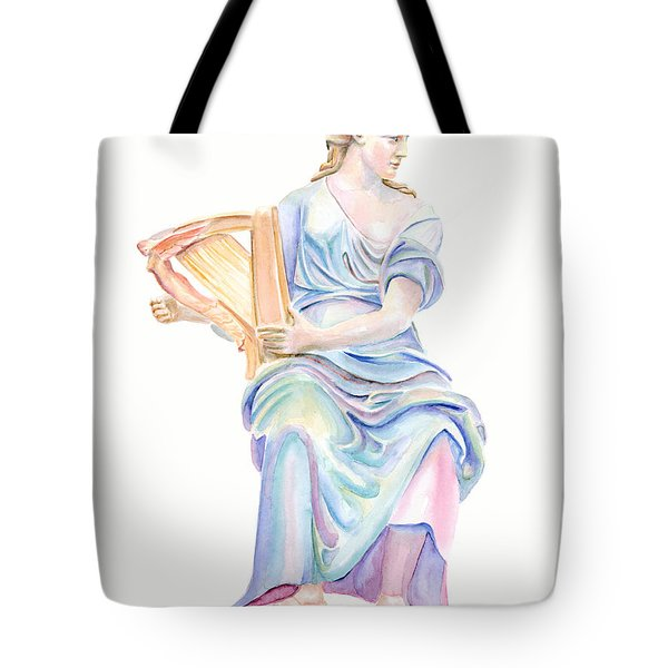 Lady With The Golden Harp Tote Bag