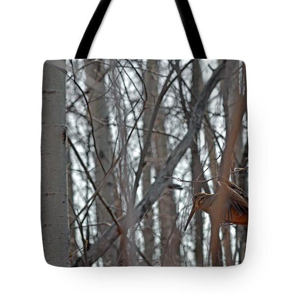 Lady Woodcock's Flight When She Has Babies Tote Bag