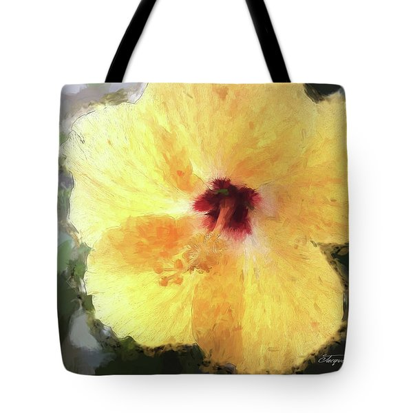 Lady Yellow Tote Bag