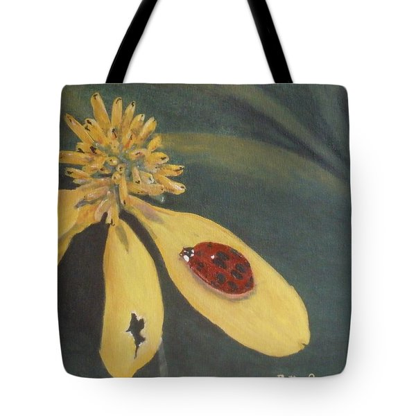 Tote Bag featuring the painting Ladybug by Betty-Anne McDonald
