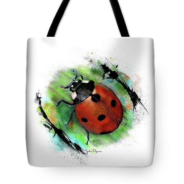 Ladybug Drawing Tote Bag