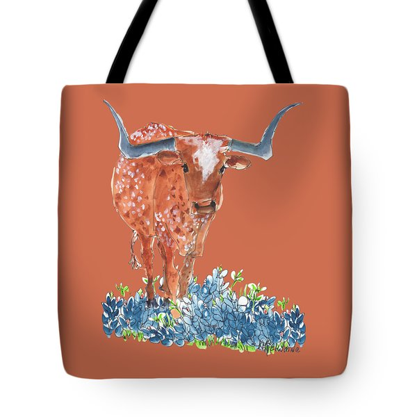 Ladybug In The Bluebonnets Lh002 By Kmcelwaine Tote Bag