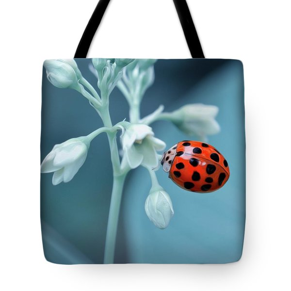 Tote Bag featuring the photograph Ladybug by Mark Fuller
