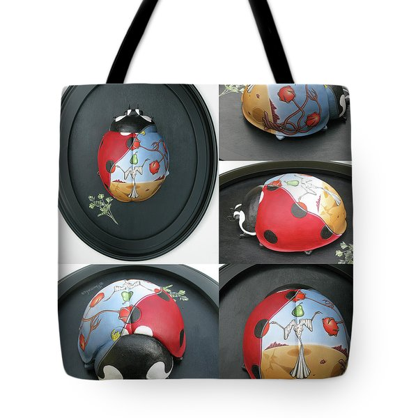 Ladybug On The Half Shell Tote Bag