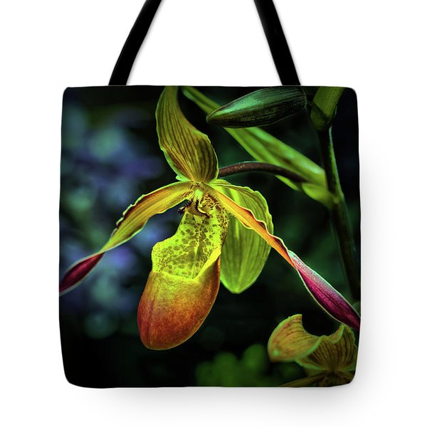 Tote Bag featuring the photograph Lady's Slipper by Richard Goldman