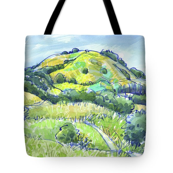 Tote Bag featuring the painting Lafayette Hills, Ca by Judith Kunzle