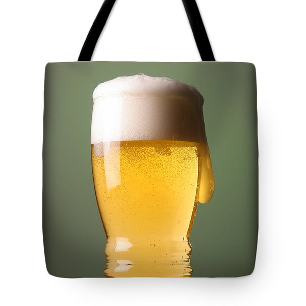 Lager Beer Tote Bag by Silvia Bruno