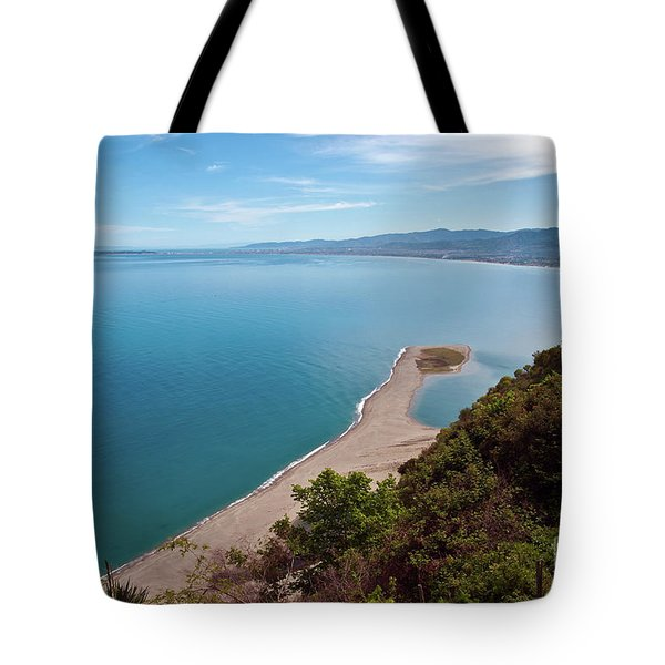 Tote Bag featuring the photograph Lagoon Of Tindari On The Isle Of Sicily  by Silva Wischeropp
