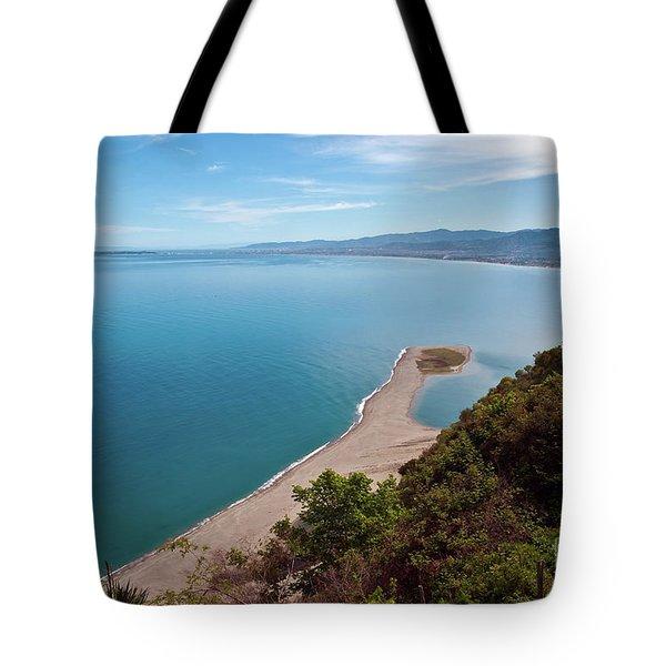 Lagoon Of Tindari On The Isle Of Sicily  Tote Bag