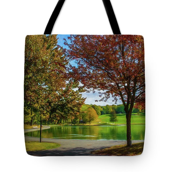 Lagoon Park In Montreal Tote Bag