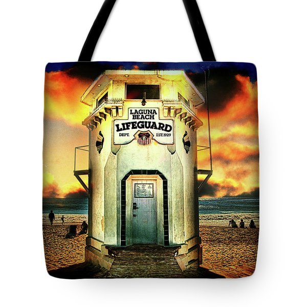 Laguna Beach Lifeguard Hq Tote Bag