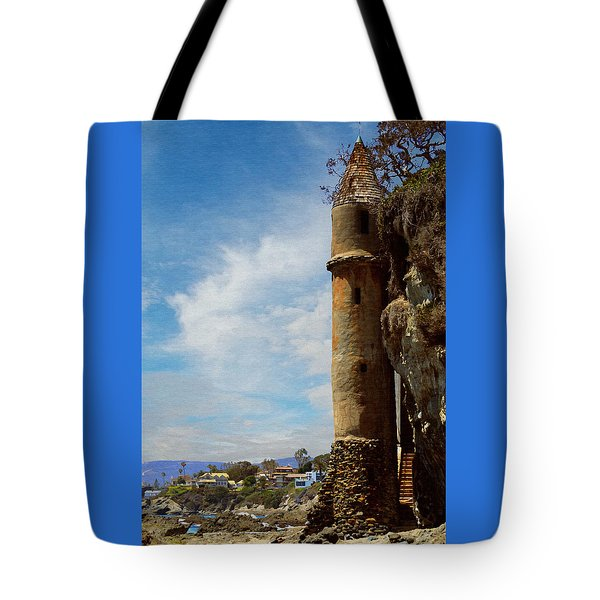 Tote Bag featuring the photograph Laguna Beach Tower by Glenn McCarthy Art and Photography