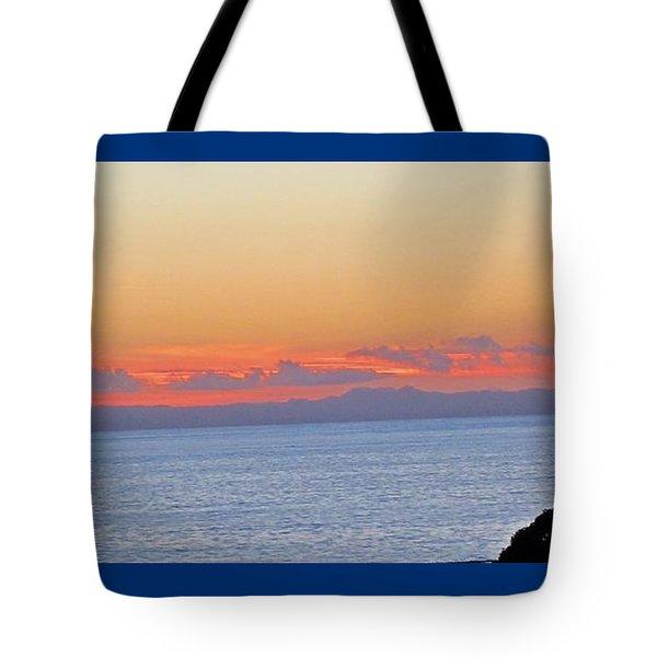 Laguna Orange Sky Tote Bag