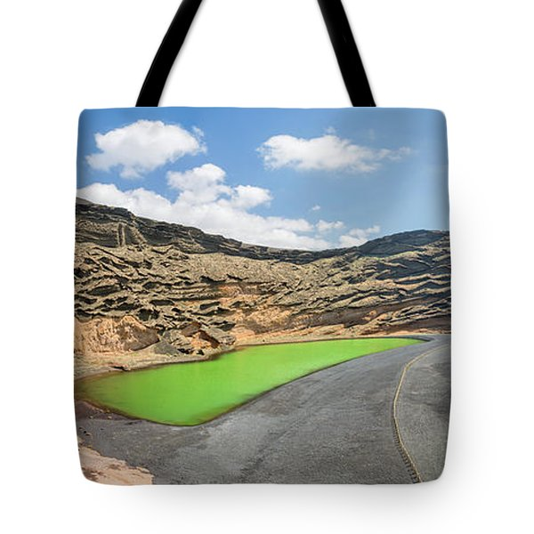 Tote Bag featuring the photograph Laguna Verde by Delphimages Photo Creations