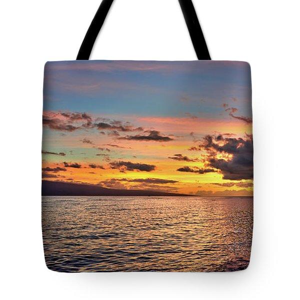 Lahaina Sunset Panorama Tote Bag
