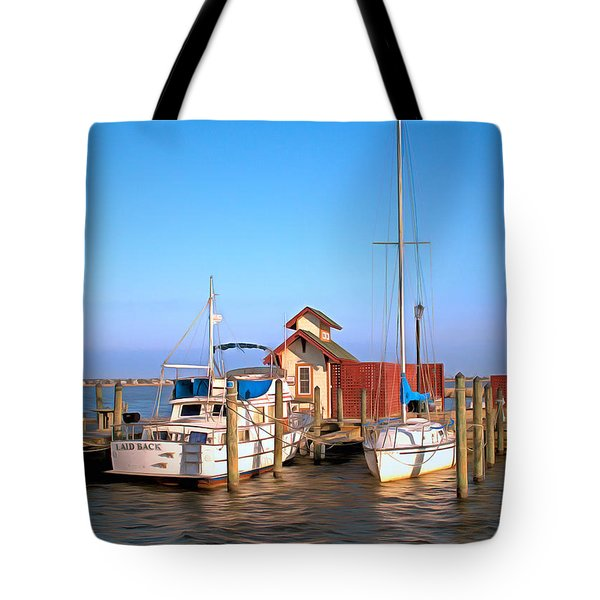 Laid Back Tote Bag by Marion Johnson