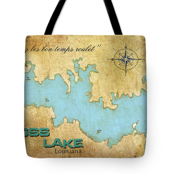 Tote Bag featuring the digital art Laissez Les Bon Temps Roulet - Cross Lake, La by Greg Sharpe