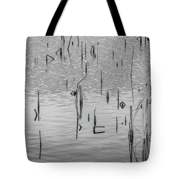 Tote Bag featuring the photograph Lake Abstract by Carolyn Dalessandro