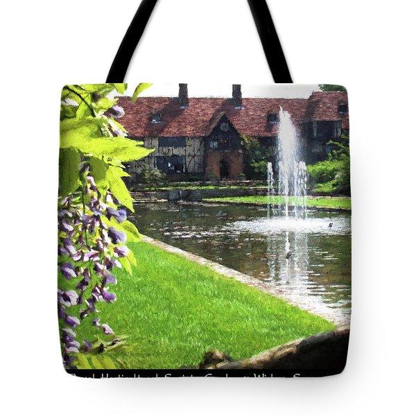 Lake And Fountain At Rhs Wisley Tote Bag