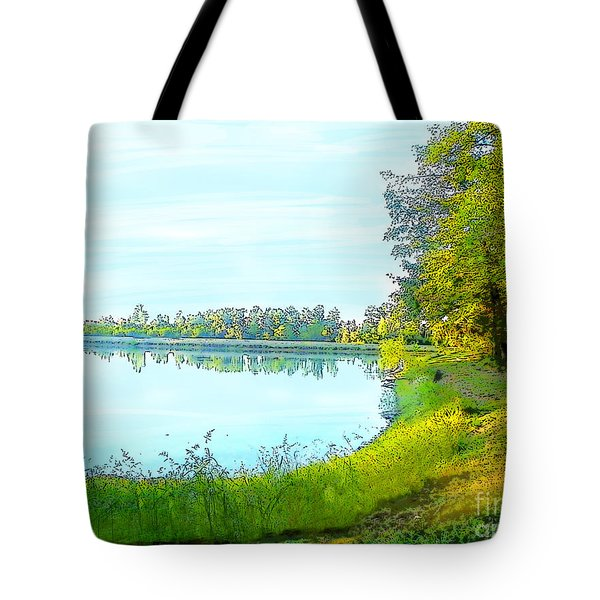 Lake And Woods Tote Bag by Craig Walters