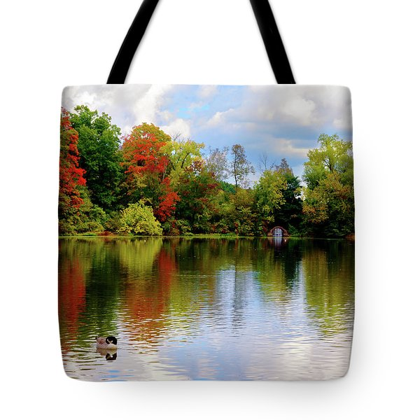 Lake At Forest Park Tote Bag