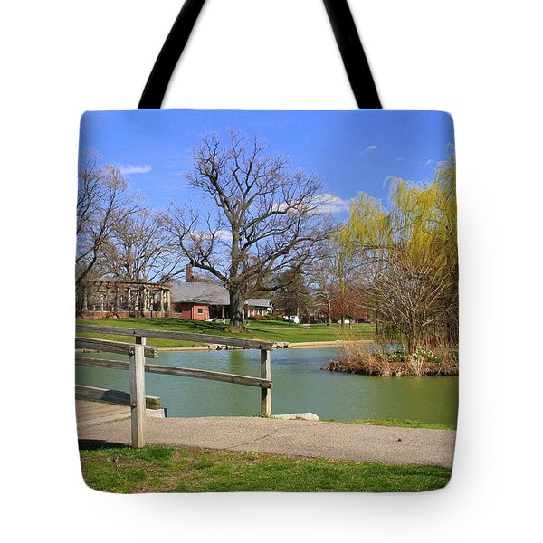Lake At Schiller Park Tote Bag