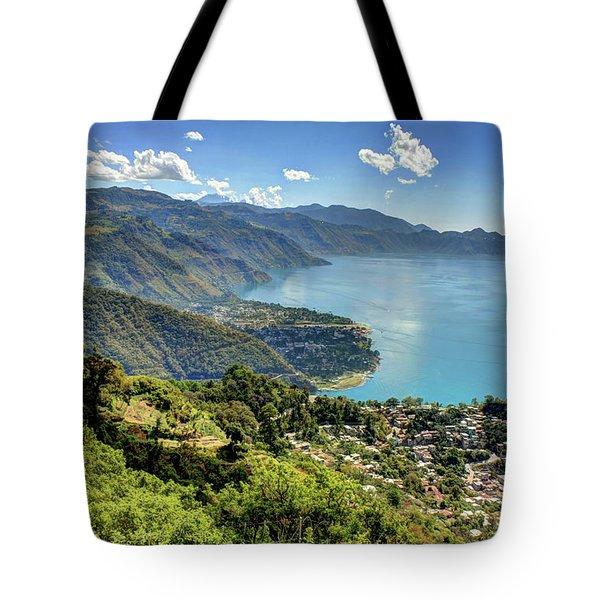 Lake Atitlan Tote Bag by John Loreaux