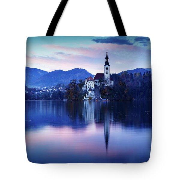 Lake Bled And The Island Church Tote Bag