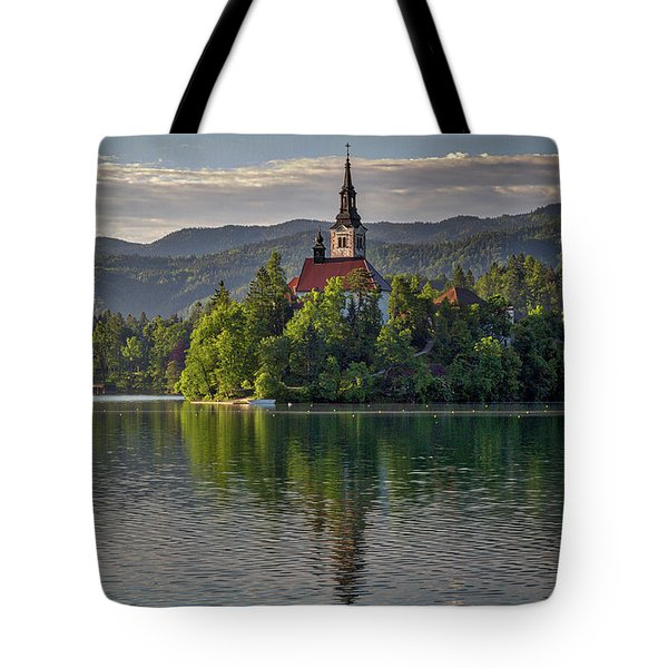 Tote Bag featuring the photograph Lake Bled Morning #2 - Slovenia by Stuart Litoff