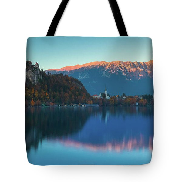 Lake Bled Panorama Tote Bag