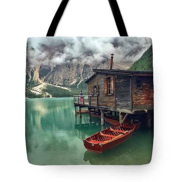 Lake Braise Italy  Tote Bag