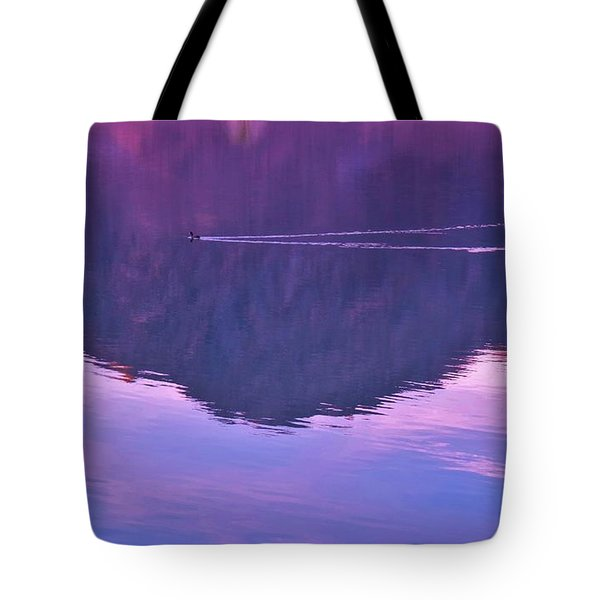 Lake Cahuilla Reflection Tote Bag by Michele Penner