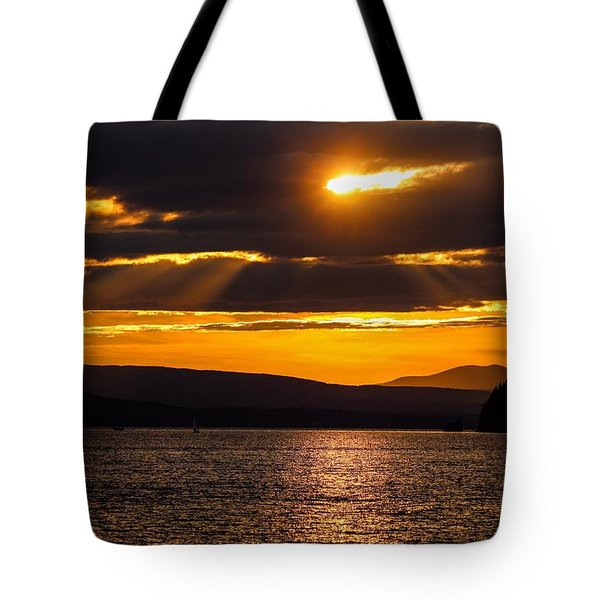 Lake Champlain Sunset Tote Bag