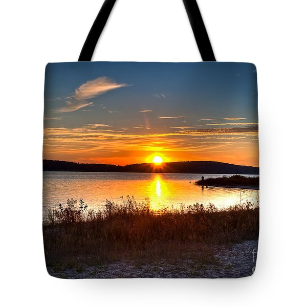 Lake Charlevoix Sunset Tote Bag