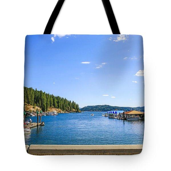 Lake Coeur D'alene Idaho Tote Bag