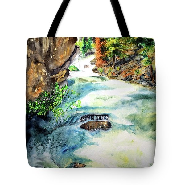 Lake Como Waterfall Tote Bag by Tracy Rose Moyers