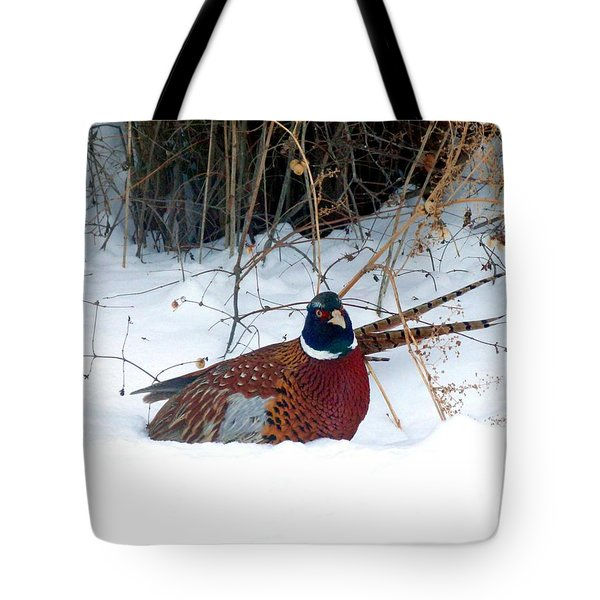 Tote Bag featuring the photograph Lake Country Pheasant 2 by Will Borden