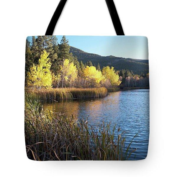 Autumn At Lake Cox Tote Bag