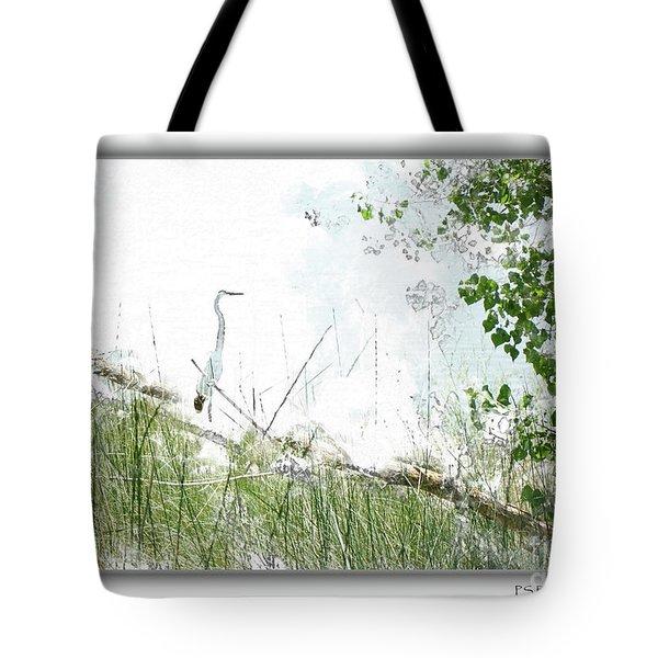 Lake Crane Tote Bag