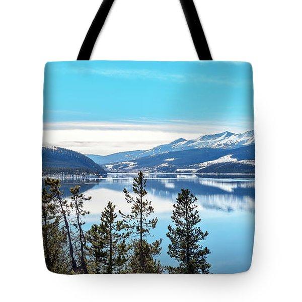 Lake Dillon Colorado Tote Bag by Stephen  Johnson