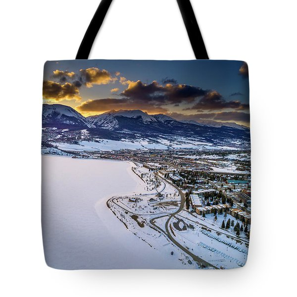 Tote Bag featuring the photograph Lake Dillon Sunset by Sebastian Musial