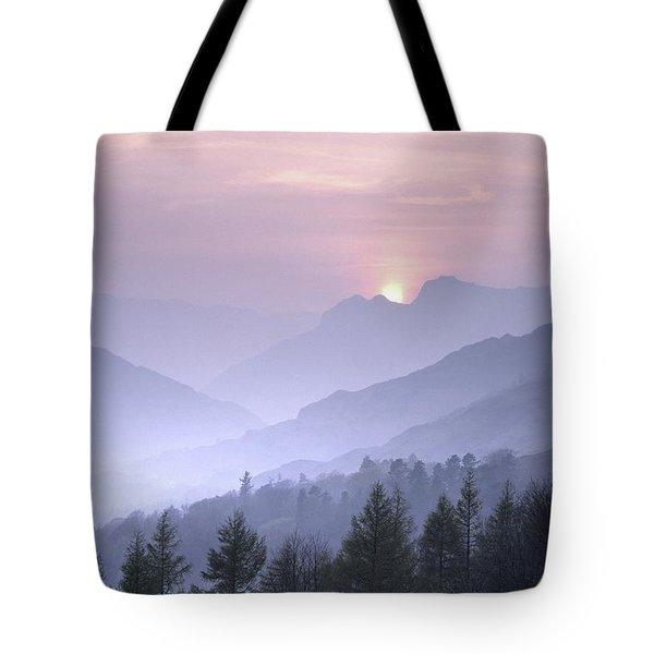 Lake District National Park. Langdale Valley, Winter Tote Bag